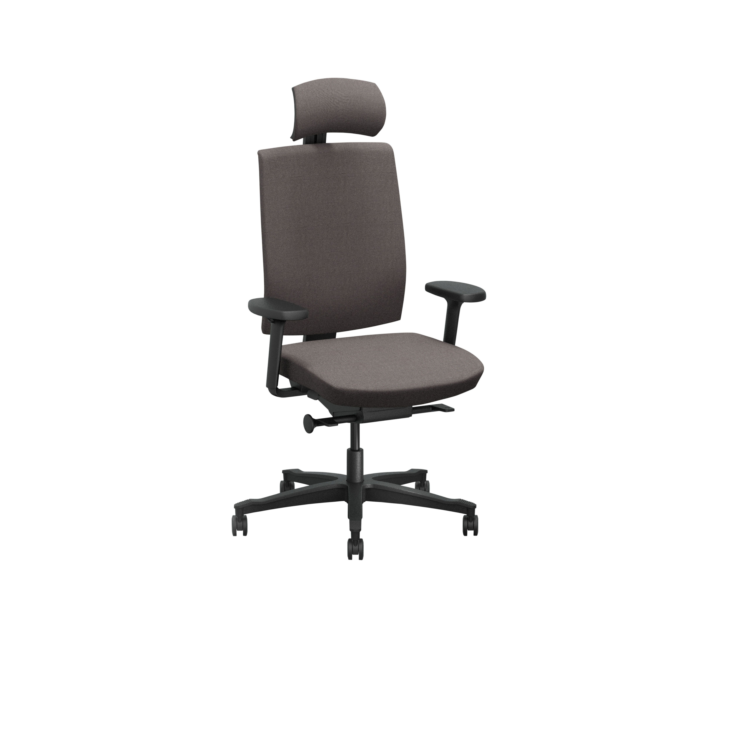 One Office chair with upholstered back