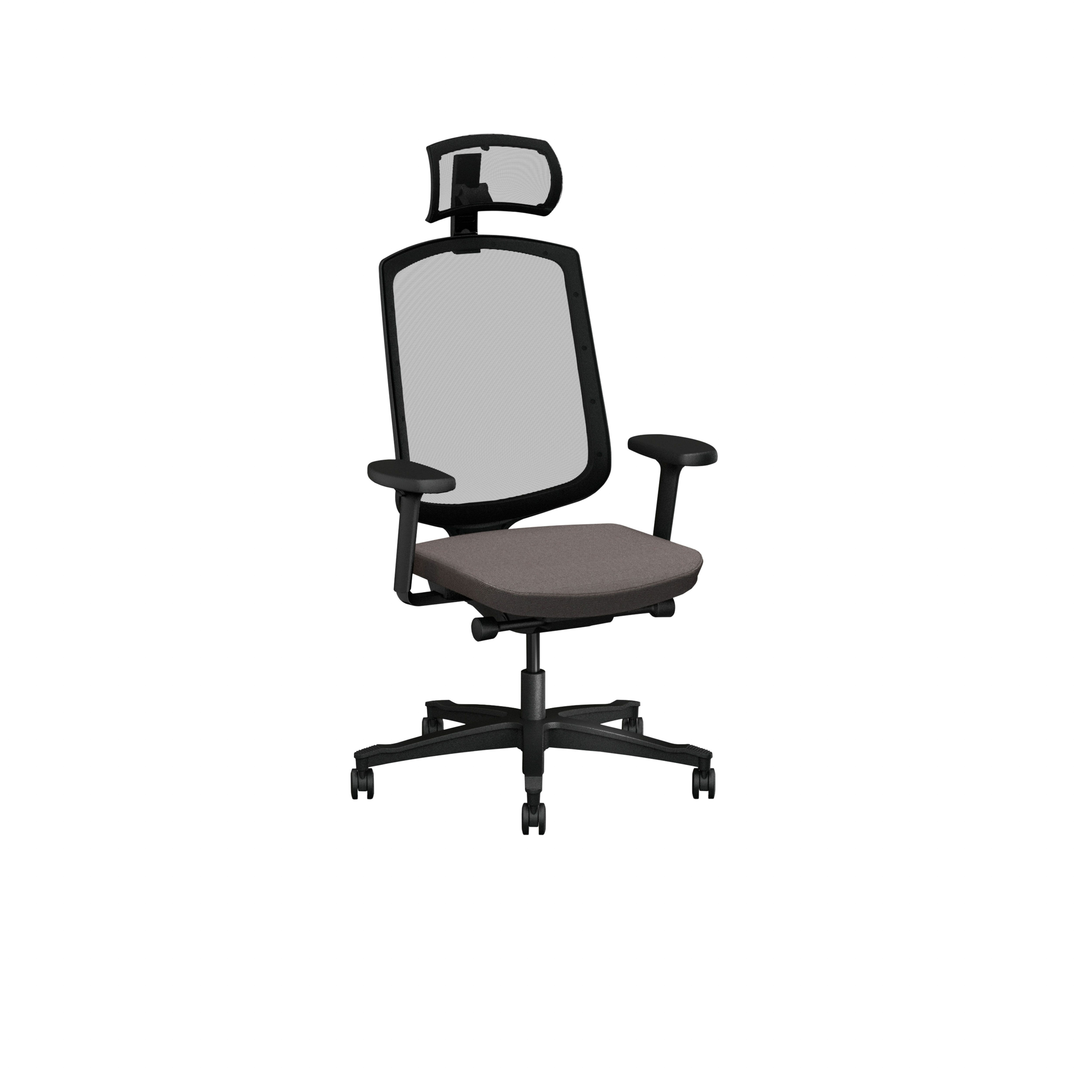 One Office chair with mesh back