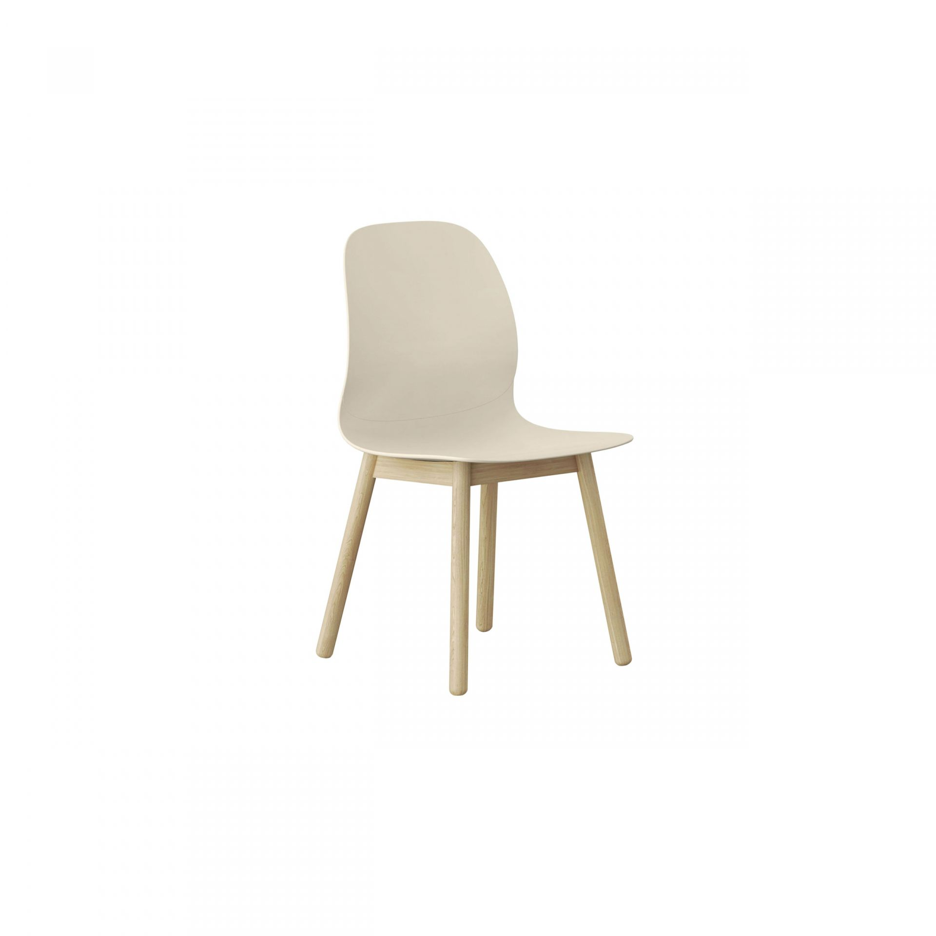 Archie Chair with wooden legs