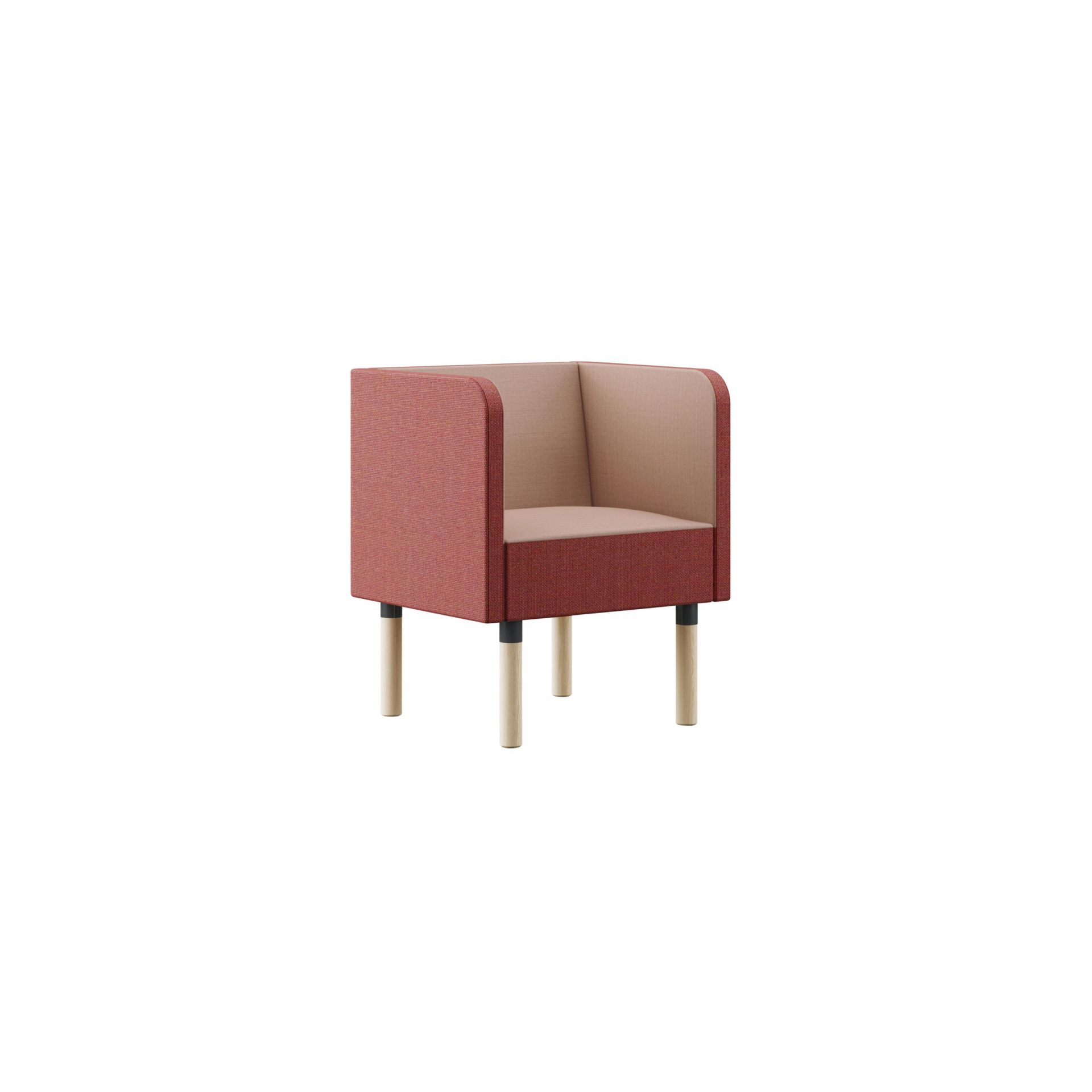 Mingle Sofa with wooden legs product image 5