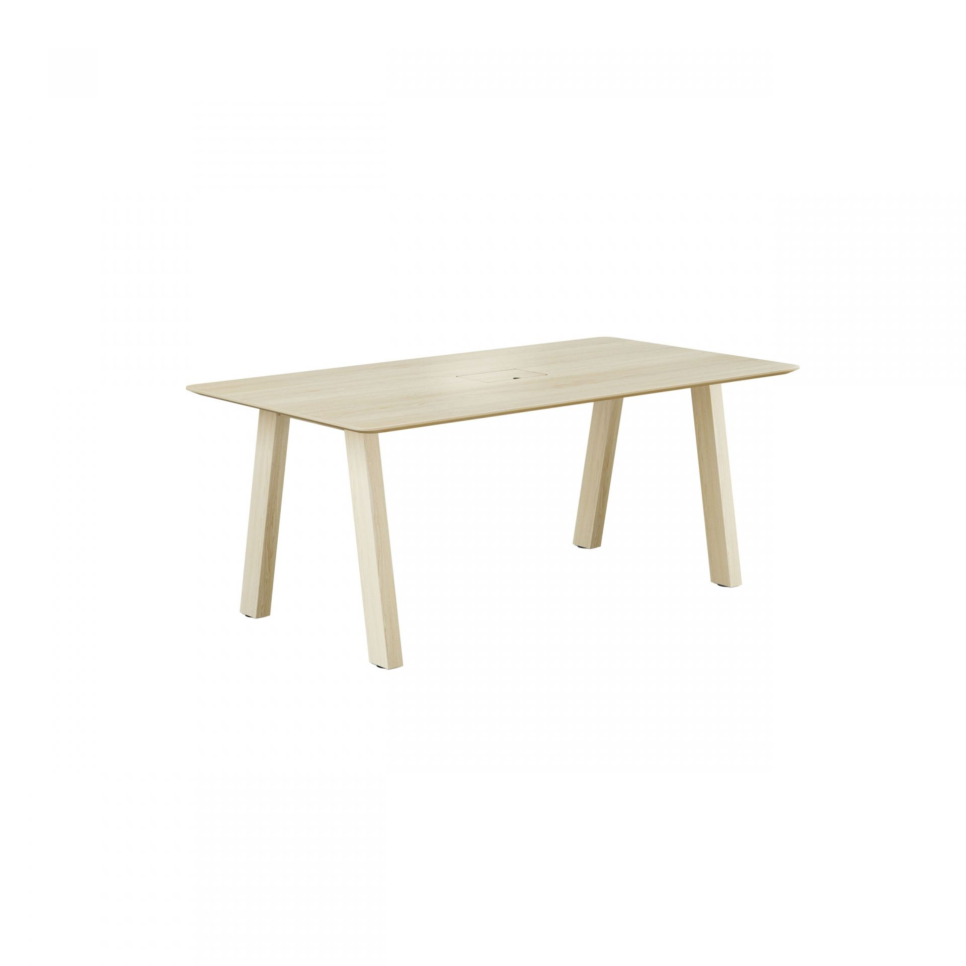 Collaborate Table with wooden legs