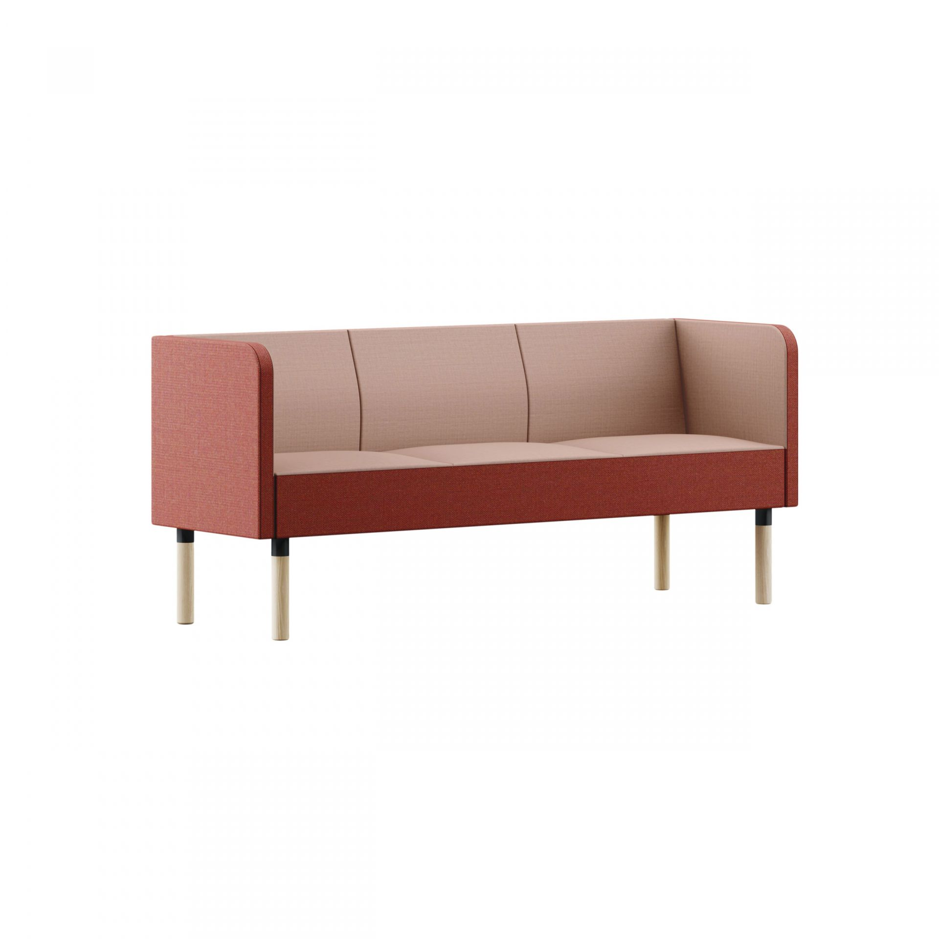 Mingle Sofa with wooden legs