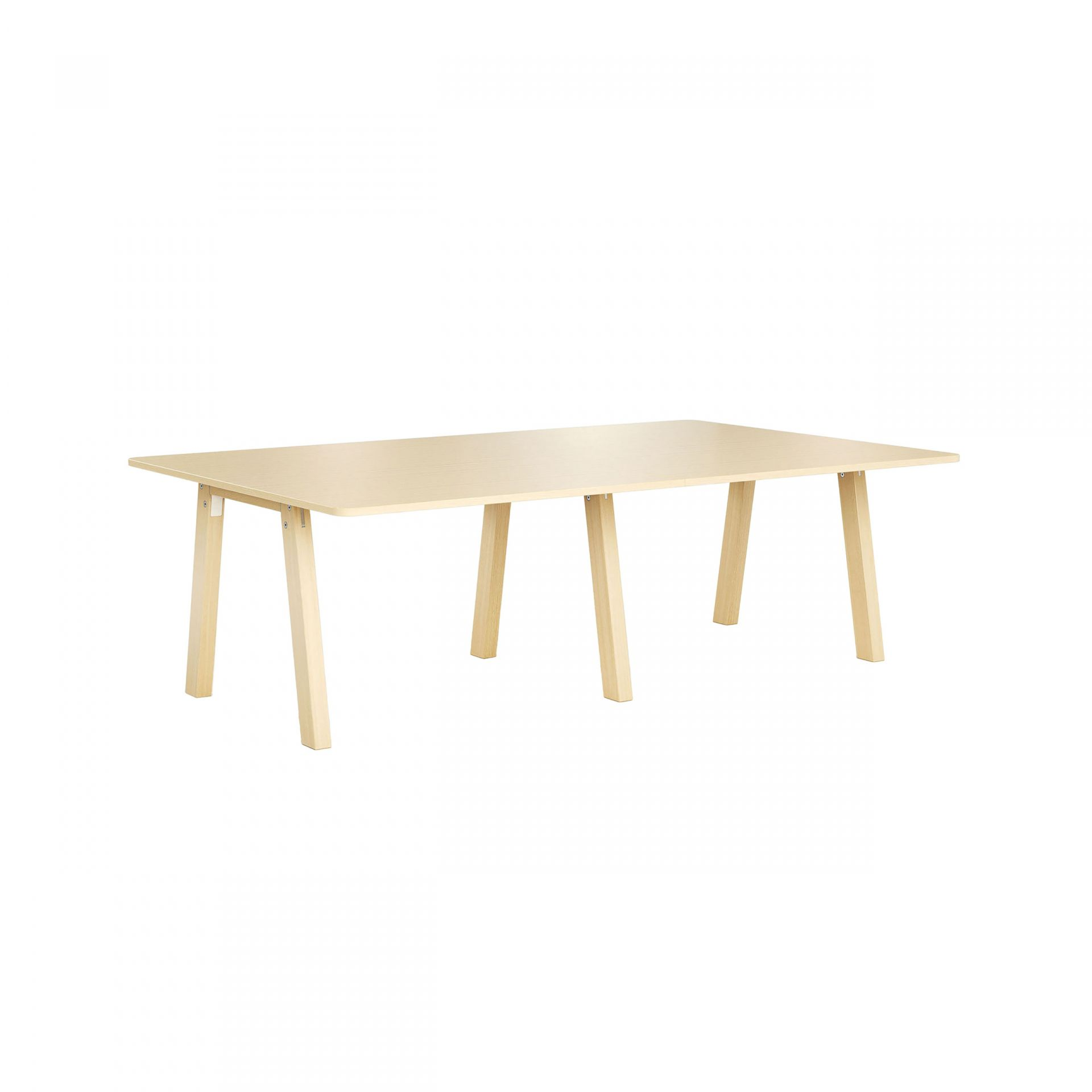 Collaborate Meeting table with wooden legs