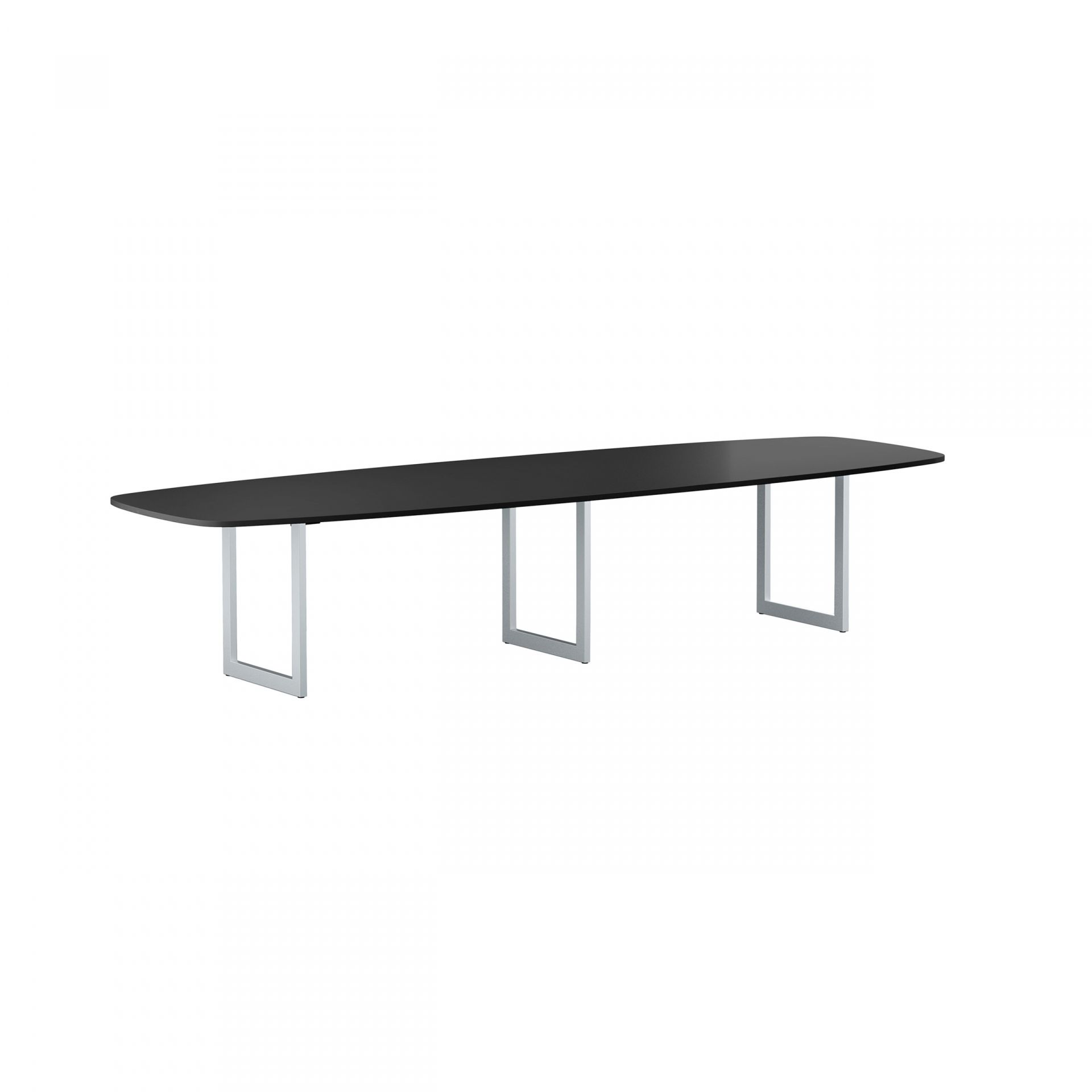 Collaborate Table with U-shaped metal legs