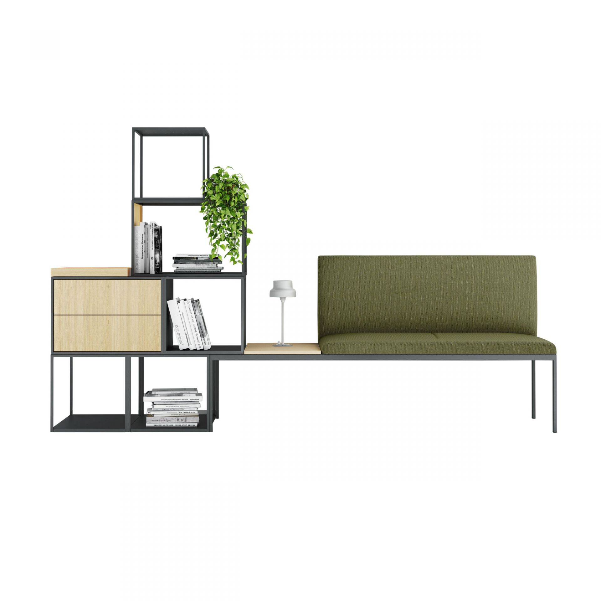Create Seating Buildable modules: seating, storage and room-in-room